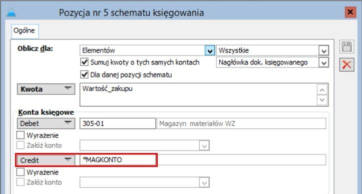 Działanie raportu wymaga księgowania dokumentów  na konto magazynowe