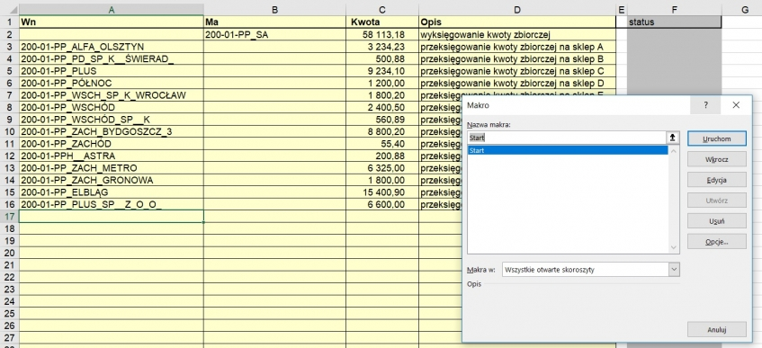 Dodatek ERP XL jako program w arkuszu Excel