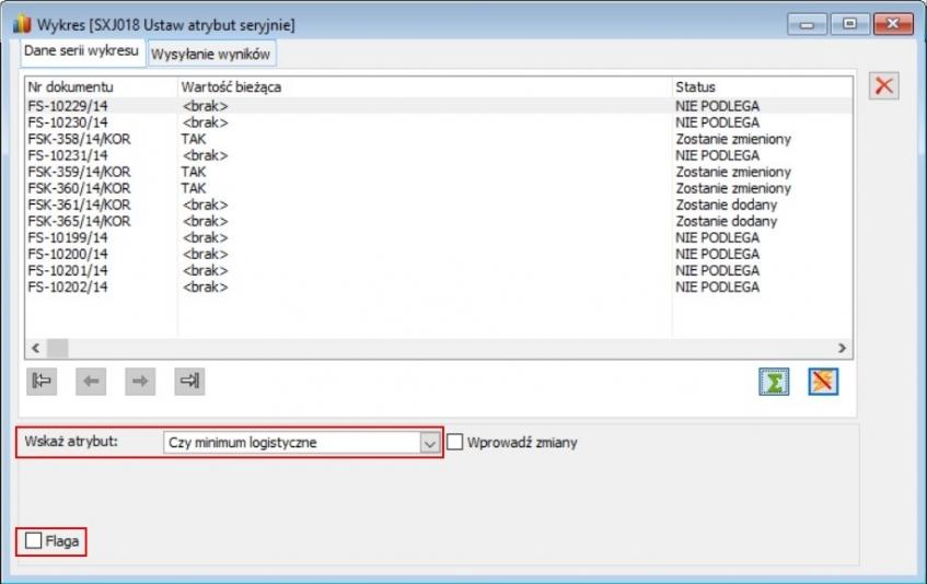 Dodatek ERP XL jako raport typu wykres z funkcjonalnością wprowadzania danych