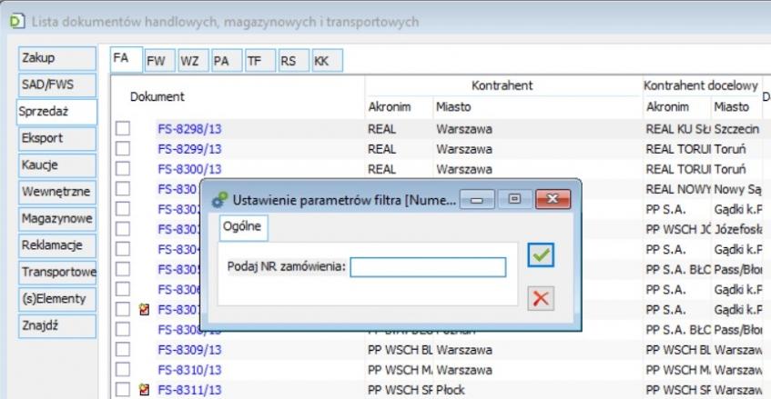 dodatek ERP XL typu filtr