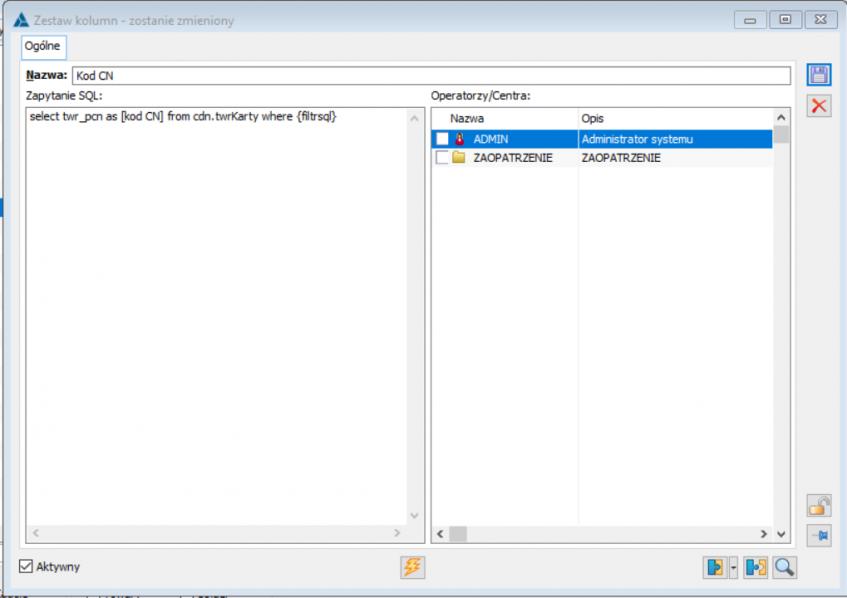 Jak dodawać własne kolumny na listach - formatka kolumny