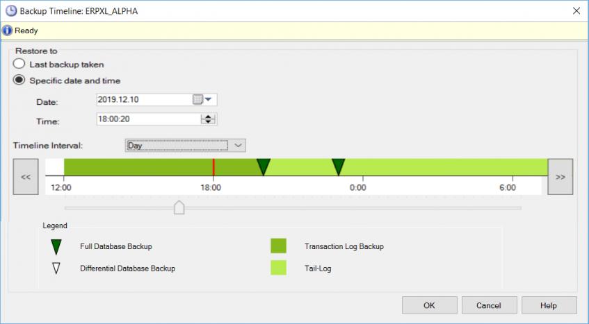 Odtworzenie kopii bazy danych ze wskazaniem punktu w czasie